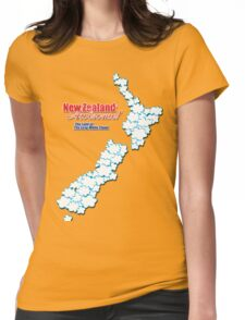 The Land of The Long White Cloud, New Zealand Womens Fitted T-Shirt