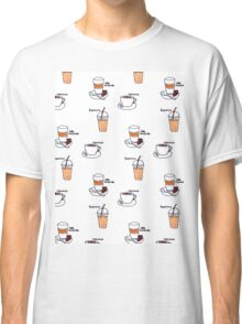 For Coffee Lovers Pattern Classic T-Shirt