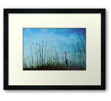 Blue without you ... Framed Print
