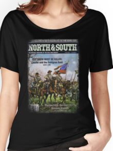 VINTAGE POSTER : CIVIL WAR NORTH & SOUTH Women's Relaxed Fit T-Shirt