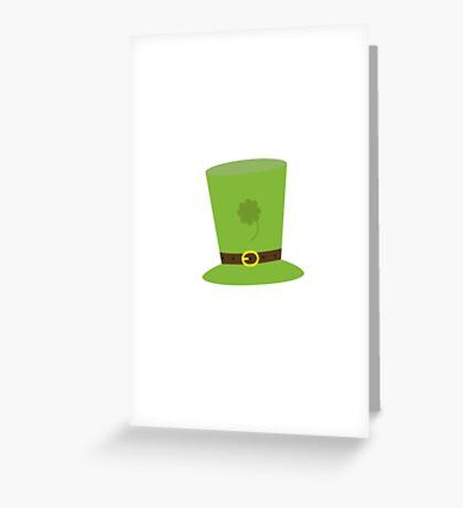 sankt patricks day hat Greeting Card