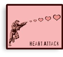 Master Chief Heart Attack Canvas Print