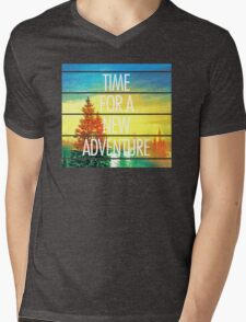New Adventure Mens V-Neck T-Shirt