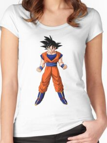goku kanji Women's Fitted Scoop T-Shirt