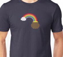 rainbow with gold Unisex T-Shirt
