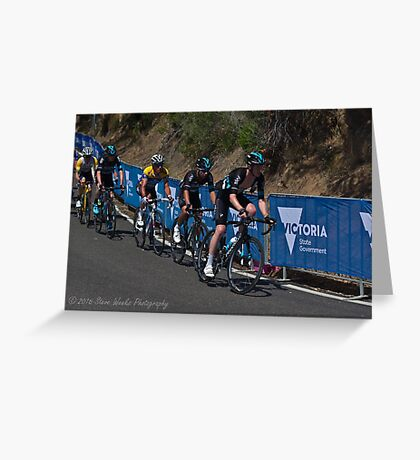 Chris Froome, 2016 Jayco Herald Sun Tour, stage 4 Arthur's Seat Greeting Card