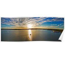Georges River Sunset Sails - Sydney - Australia Poster