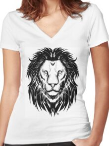 Lion I Women's Fitted V-Neck T-Shirt