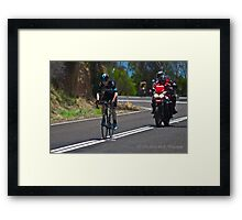 Chris Froome, 2016 Jayco Herald Sun Tour, stage 4 Arthur's Seat Framed Print