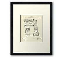 Load indicating attachment for drilling rigs-1916 Framed Print