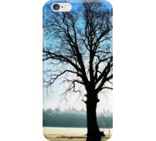 The old hero standing out straight on a bright and cold morning iPhone Case/Skin