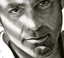 G. Clooney in black and white Sticker