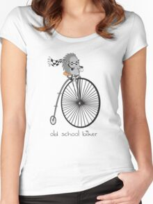 old school biker Women's Fitted Scoop T-Shirt