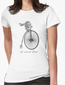 old school biker Womens Fitted T-Shirt