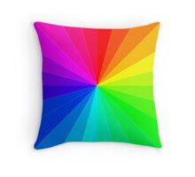 The Rainbow Spectrum, Wheel of Colors/Colours Throw Pillow