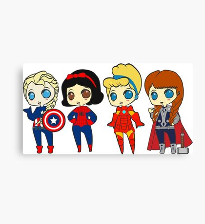 SUPERHERO PRINCESSES Canvas Print