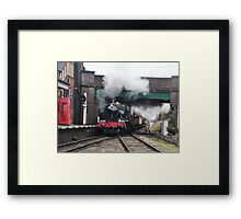 Vintage Steam Railway Train at the Station Framed Print