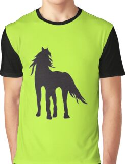 Horse Silhouette Iron on Applique Patch Graphic T-Shirt