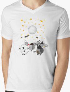 halloween hedgehogs party gang Mens V-Neck T-Shirt