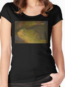 water lily pad by bs hilton Women's Fitted Scoop T-Shirt