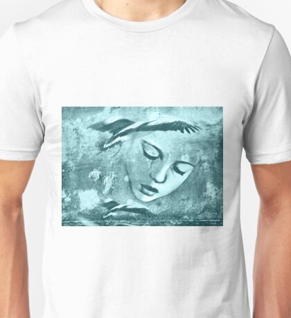 As Mia continued to read Pelicans flew out of the book and circled her head Unisex T-Shirt