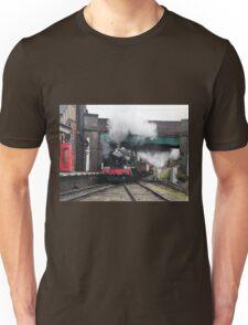 Vintage Steam Railway Train at the Station Unisex T-Shirt
