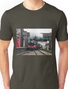 Vintage Steam Railway Train at the Station Unisex T-Shirt