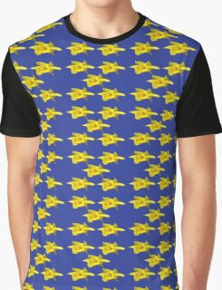 DAFFODILS ON BLUE Graphic T-Shirt
