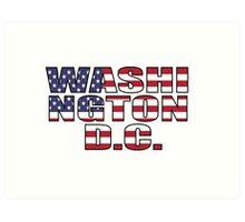 Washington D.C Art Print