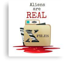 The X Files Metal Print