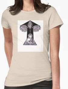 Buddha Under the Bodhi Tree Womens Fitted T-Shirt