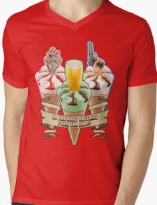 Three Flavours Cornetto Trilogy with banner Mens V-Neck T-Shirt