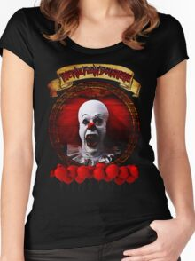 Tim Curry Pennywise Stephen King T-Shirt Women's Fitted Scoop T-Shirt