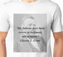 Grant - Errors In Judgement Unisex T-Shirt