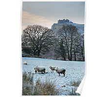 Carreg Cennen Castle Winter Poster