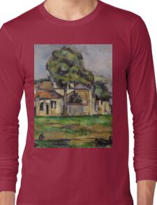 Paul Cezanne - Banks of the Marne  1888 Impressionism  Landscape Long Sleeve T-Shirt