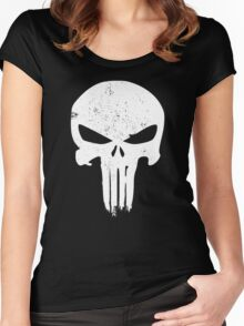 Punisher Skull Women's Fitted Scoop T-Shirt