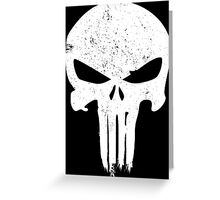 Punisher Skull Greeting Card