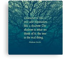 Tree of Character VINTAGE BLUE Canvas Print