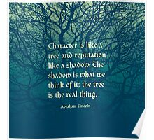 Tree of Character VINTAGE BLUE Poster