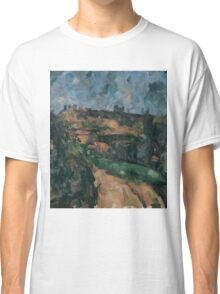Paul Cezanne - Bend Of The Road At The Top Of The Chemin Des Lauves Impressionism  Still Life Classic T-Shirt