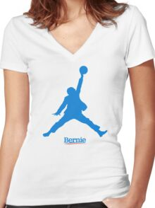 Bernie Jumpman Women's Fitted V-Neck T-Shirt