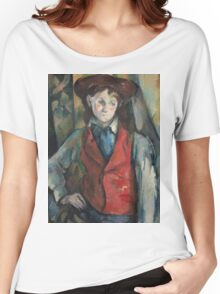 Paul Cezanne - Boy in a Red Waistcoat 1888 - 1890 Women's Relaxed Fit T-Shirt