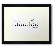 Weeds - Little boxes on the hillside Framed Print