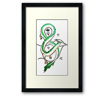 Haku Dragon Framed Print