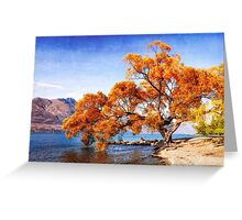 canvassed tree Greeting Card