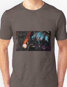 Burning Eyes Flaming Fist Unisex T-Shirt