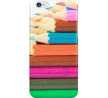 Stacked Colored Pencils iPhone Case/Skin