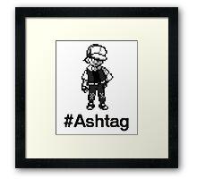 #Ashtag Pokemon Retro Framed Print