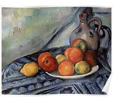 Paul Cezanne - Fruit and a Jug on a Table  Impressionism  Still Life Poster